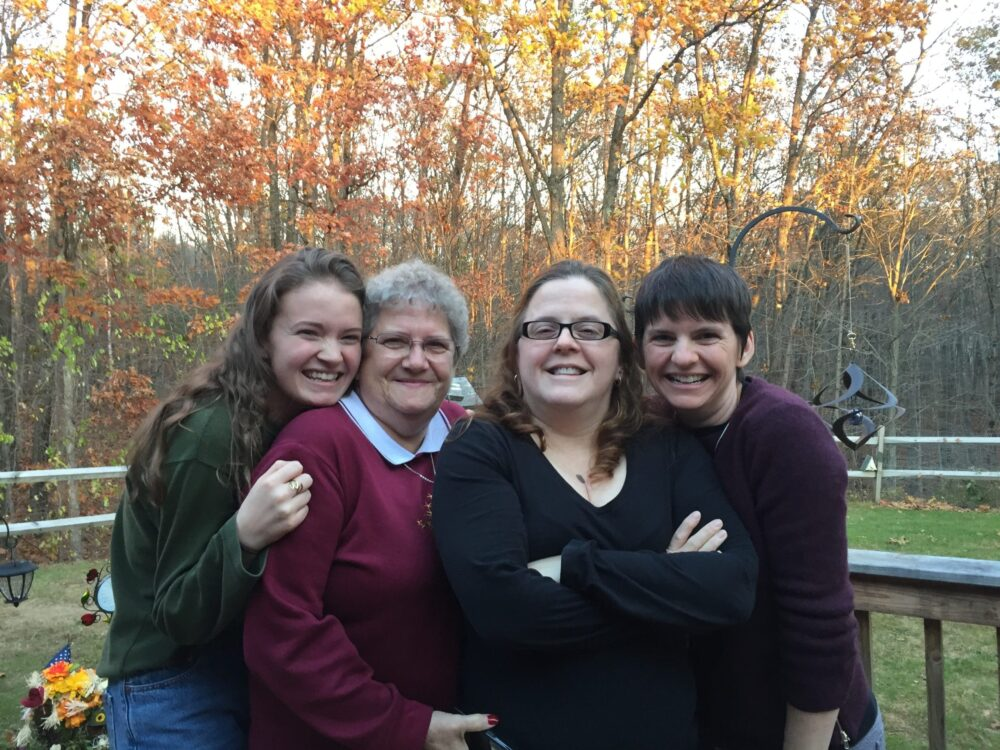 My daughter, my mom, my sister, and me
