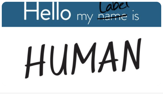 Hello my label is HUMAN